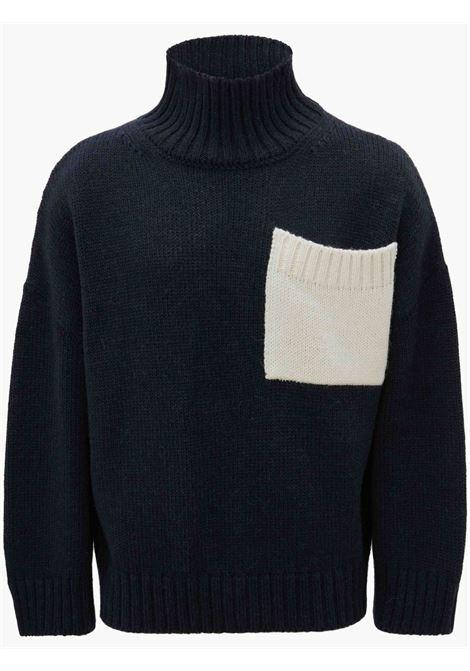 Navy blue patch pocket jumper - men  JW ANDERSON | KW0441YN0144888