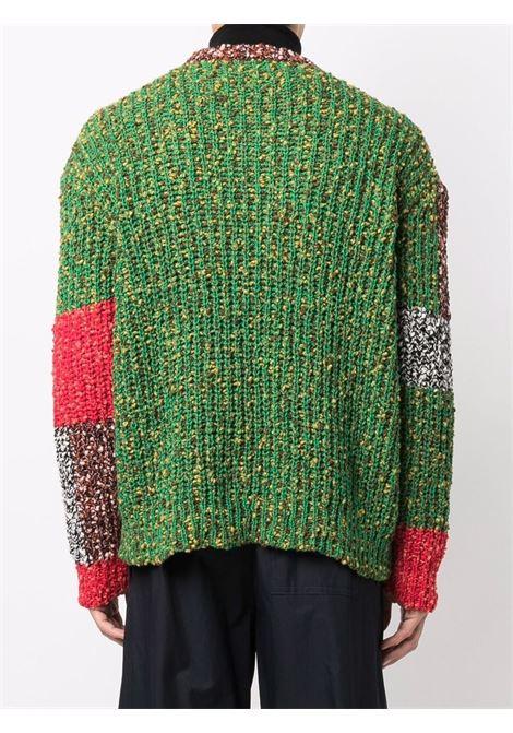Maglione con design patchwork multicolore - uomo JW ANDERSON | KW0446YN0145452