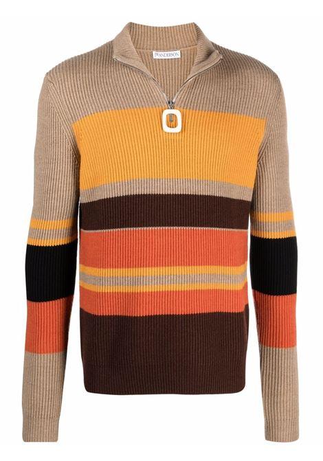 Multicolored striped roll-neck jumper - men  JW ANDERSON | KW0471YN0008251
