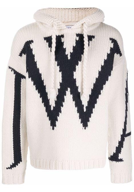 Maglione in maglia chunky con cappuccio - uomo JW ANDERSON | KW0498YN0146021