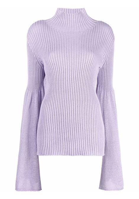 Lavender bell-sleeve ribbed jumper - women  JW ANDERSON | KW0517YN0152748