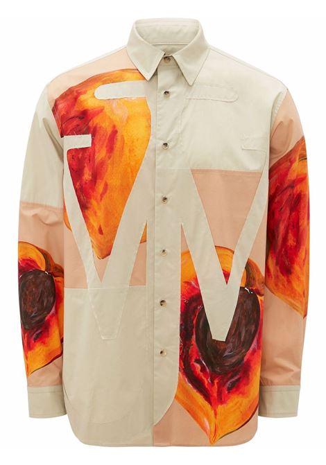 Veggie fruit anchor applique shirt - men  JW ANDERSON | SH0136PG0640130