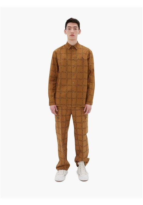 Camicia con logo marrone - uomo JW ANDERSON | SH0139PG0663619