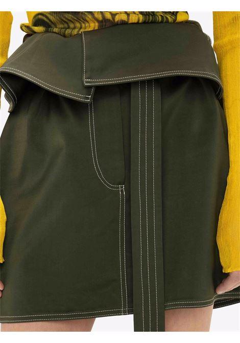 Khaki green foldover waist mini skirt - women  JW ANDERSON | SK0090PG0005575