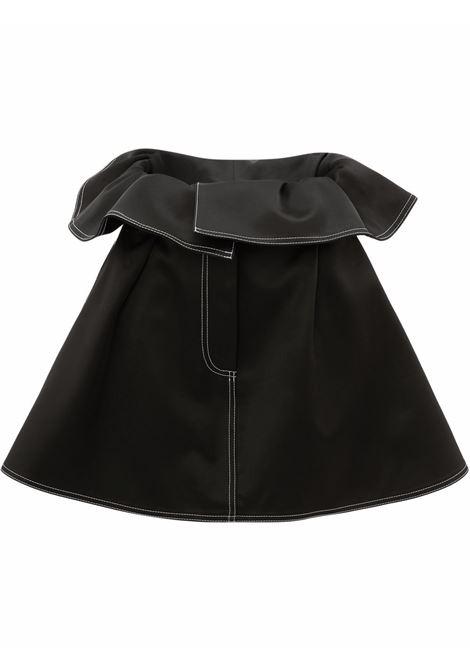 Black foldover waist mini skirt - women  JW ANDERSON | SK0090PG0005999