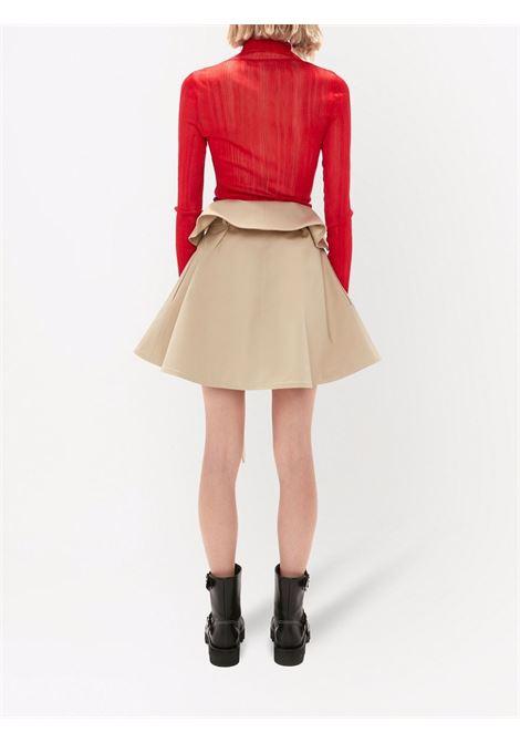 Beige foldover waist mini skirt - women  JW ANDERSON | SK0090PG0160185