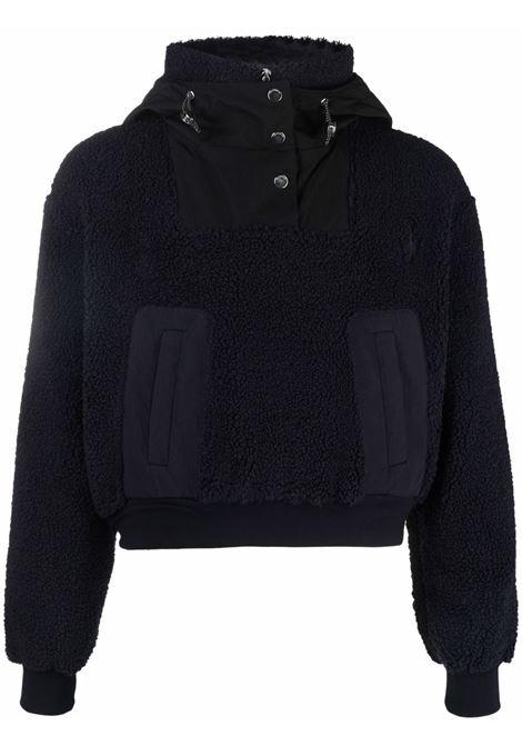Navy blue panelled zip-up sweatshirt - men  JW ANDERSON | TP0153PG0647888
