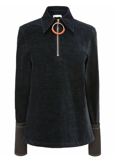 Blue navy oversized uff ring top - women  JW ANDERSON | TP0167PG0685888