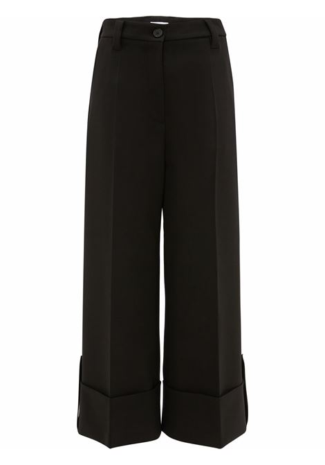 Black wide-leg cropped trousers - women  JW ANDERSON | TR0156PG0659999