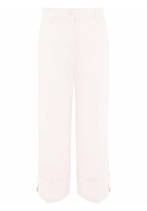 White wide-leg cropped trousers - women  JW ANDERSON | TR0156PG0674006
