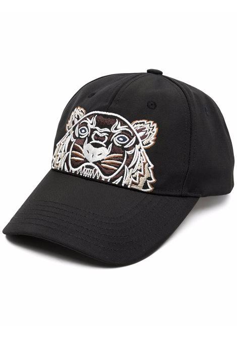 Tiger-motif cotton baseball cap in black - men KENZO   FA65AC301F2099G