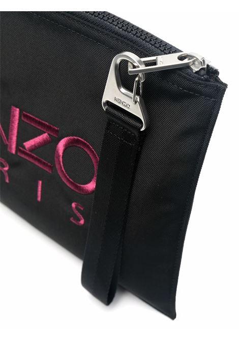 Tiger-motif zipped clutch bag in black - men KENZO | FA65PM302F2099G