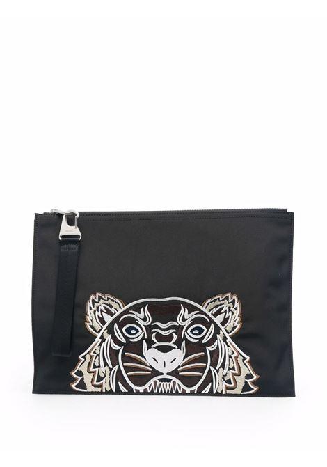 Clutch con motivo tiger in nero - uomo KENZO | FA65PM322F2099G