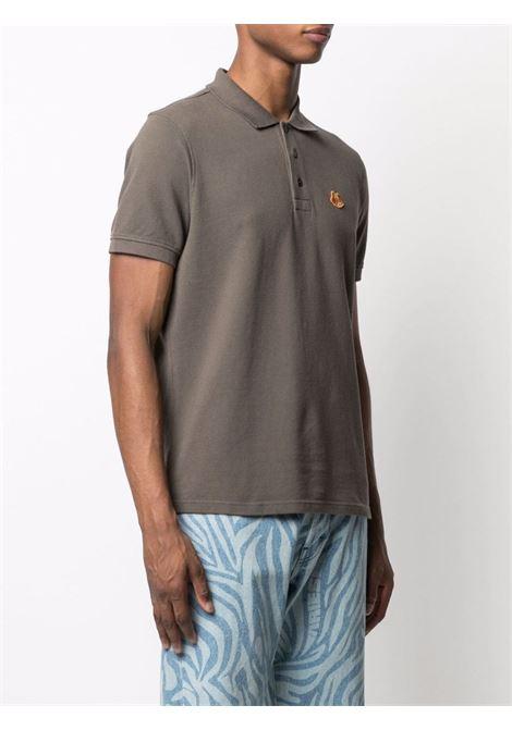 Polo con applicazione tiger grigio - uomo KENZO | FA65PO0014PU52
