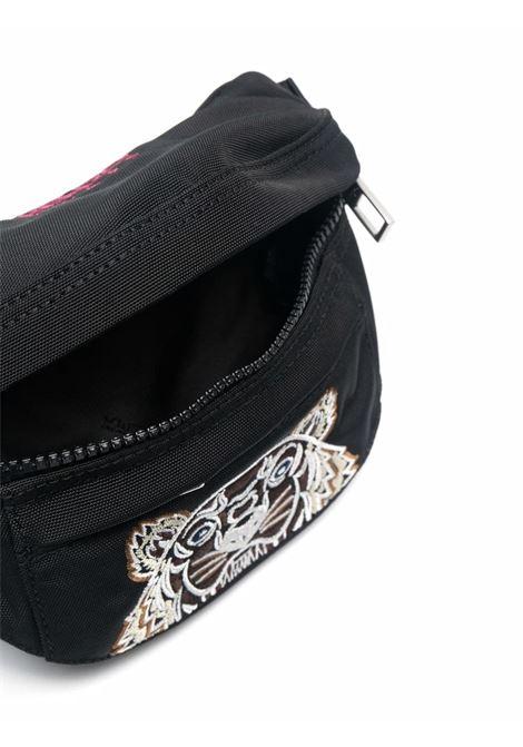 Black tiger-motif zipped belt bag - men  KENZO | FA65SF307F2099G