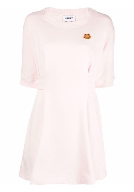 Tiger- motif sweatshirt dress in rose pink - women  KENZO | FB52RO7634ML34