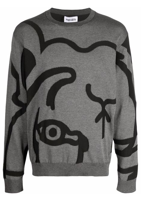 Maglione con motivo tigre in grigio - uomo KENZO   FB55PU5863TC98