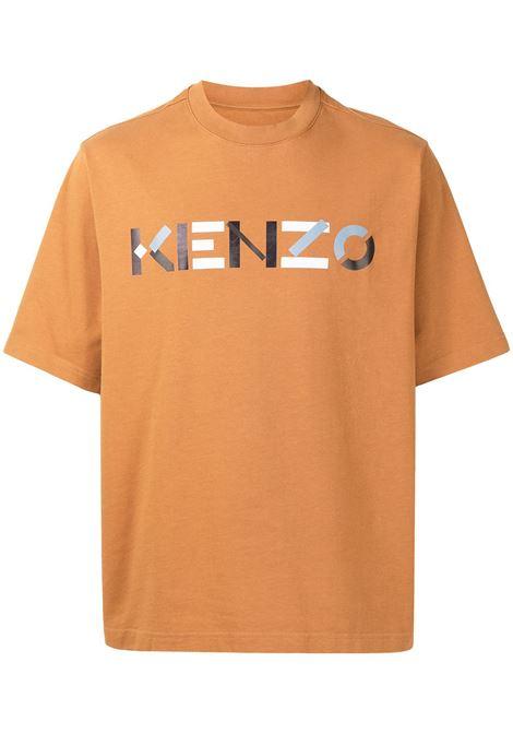 T-shirt con logo in giallo scuro - uomo KENZO | FB55TS0554SB15