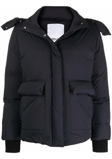 Hooded padded jacket in black - women KENZO | FB62OU06656399