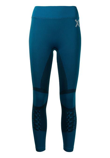 Logo-print panelled leggings in ink blue - women  KENZO | FB62PA7364JJ78