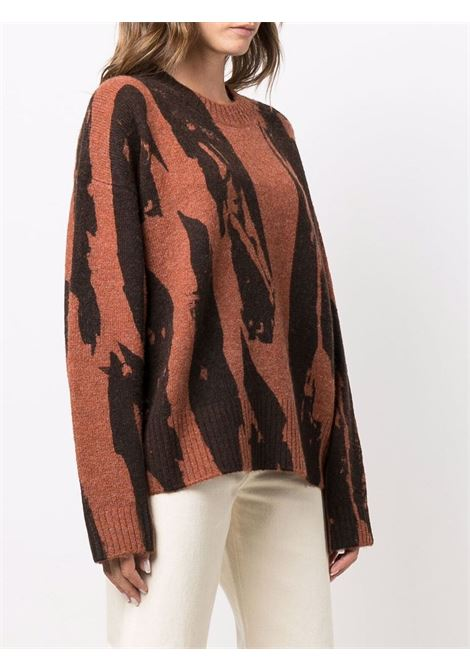 Abstract-print knitted jumper in orange - women  KENZO | FB62PU6053CE31