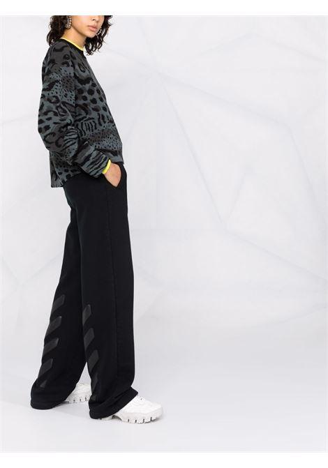 Animal-print knit jumper in grey - women  KENZO | FB62PU6273CF96