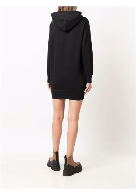 Logo hooded sweatshirt dress in black - women  KENZO | FB62RO8074MO99
