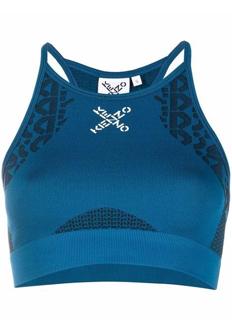 Logo-print sports bra - women  KENZO | FB62TO8614JJ78