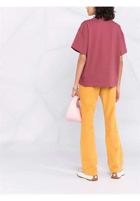 Tiger head print t-shirt in mure red - women  KENZO | FB62TS6404YH85
