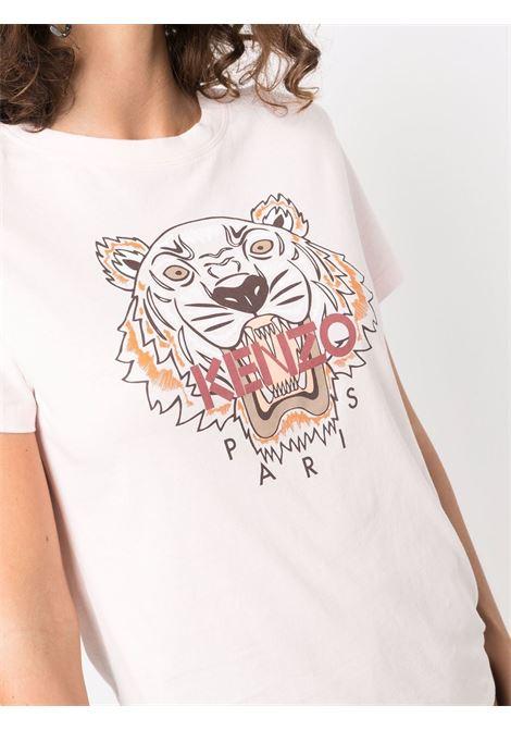 Tiger- motif t-shirt in rose pink - women  KENZO | FB62TS8464YB34