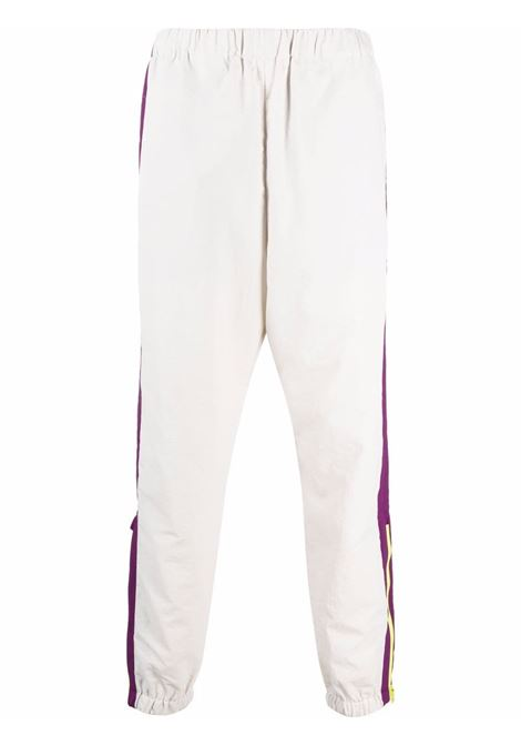 Colour-block slim-fit track pants in light-grey and multicolour - men  KENZO | FB65PA5109CO94