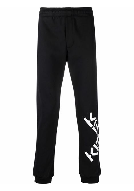 Black cross-logo track trousers - men  KENZO | FB65PA7174MS99