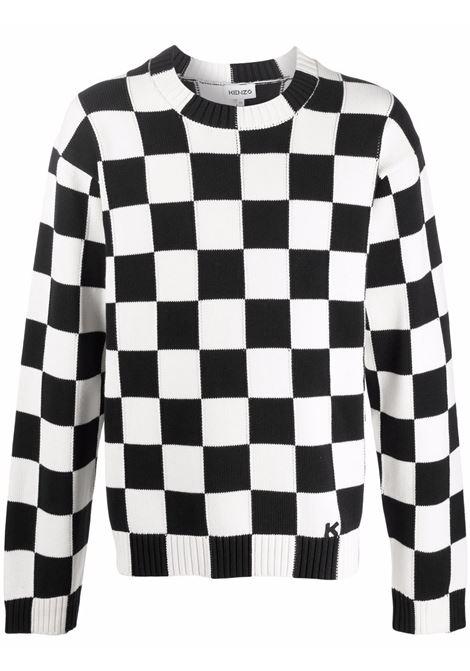 Maglione con stampa a scacchiera - uomo KENZO | FB65PU6003CD01