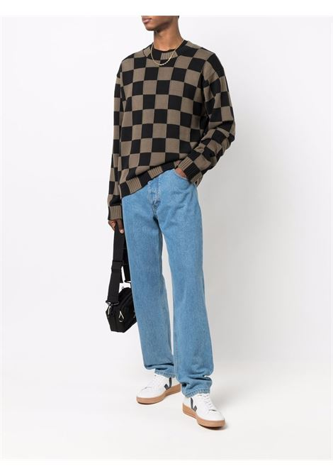Checkerboard-print jumper - men KENZO | FB65PU6003CD52