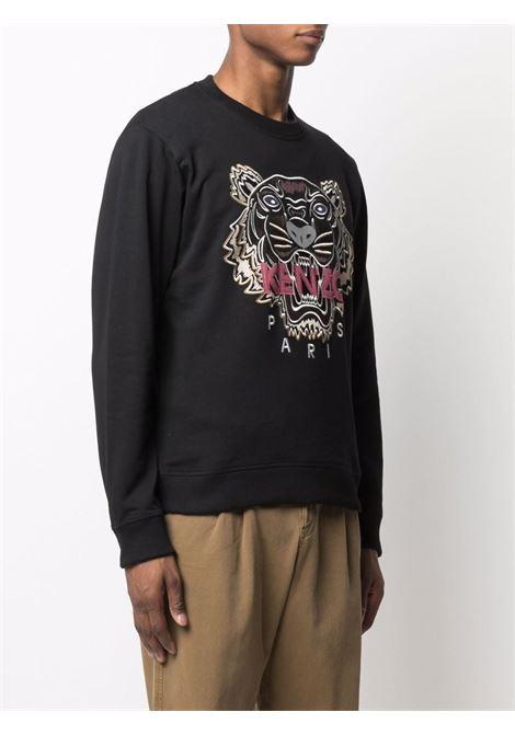 Black tiger head logo sweatshirt - men  KENZO | FB65SE1234XA99
