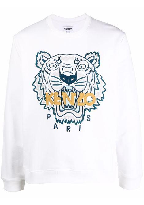 Felpa con applicazione tiger bianco - uomo KENZO   Felpe   FB65SW1234XA01B