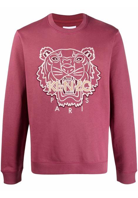 Logo-embroidered sweatshirt in  mure pink - men  KENZO | FB65SW1254XH85