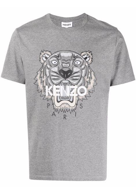 Tiger-motif t-shirt in grey - men KENZO | FB65TS0204YA95