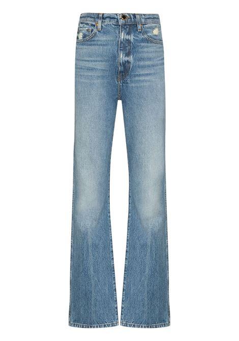 Danielle straight leg jeans in blue - women  KHAITE | 1032059