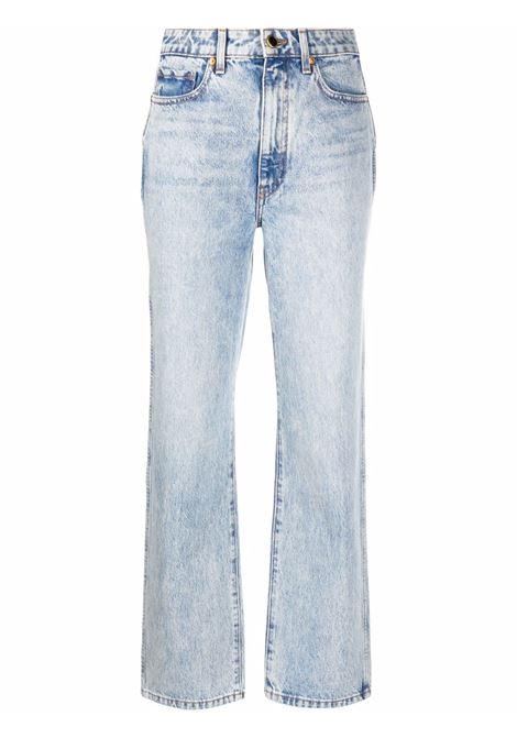 Light-wash straight-leg jeans in blue - women  KHAITE   1071050