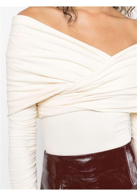 Cream The Lili off-shoulder bodysuit - women  KHAITE | 2184134103