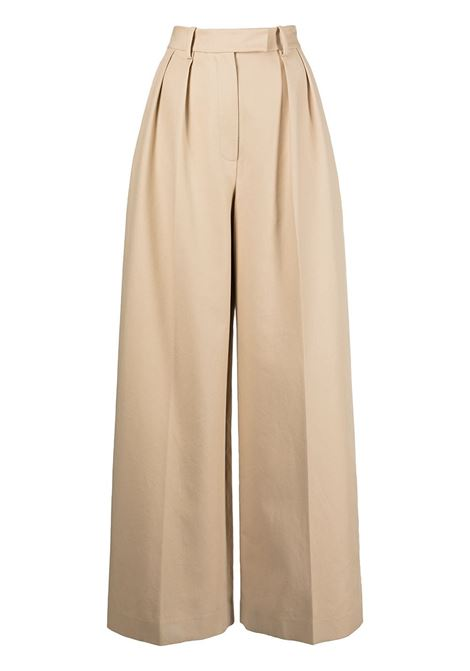 Sand-brown teyana wide-leg trousers - women  KHAITE   3078106912