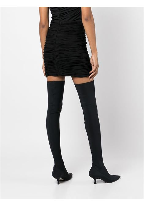 Black The Moira ruched-detail skirt - women  KHAITE | 4051480200