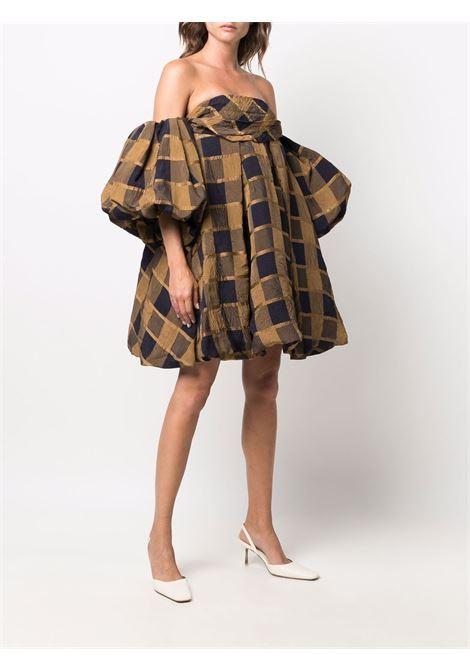 Short sleeve dress black and brown- women KHAITE | 5189465343
