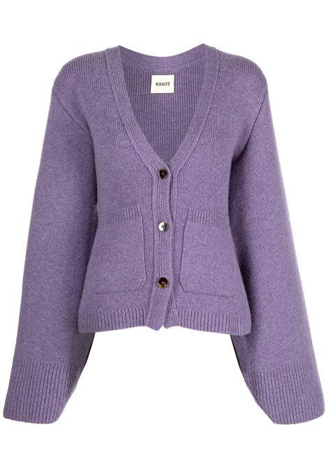 Cardigan a maglia lila- donna KHAITE   8267600803