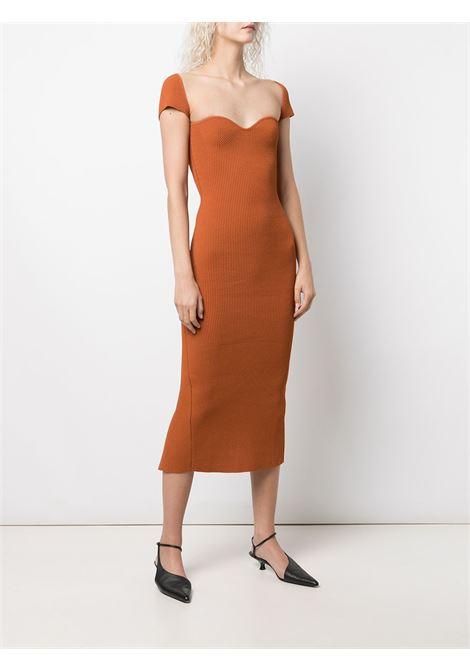 Allegra bustier-style knit dress in orange - women  KHAITE | 8416400529