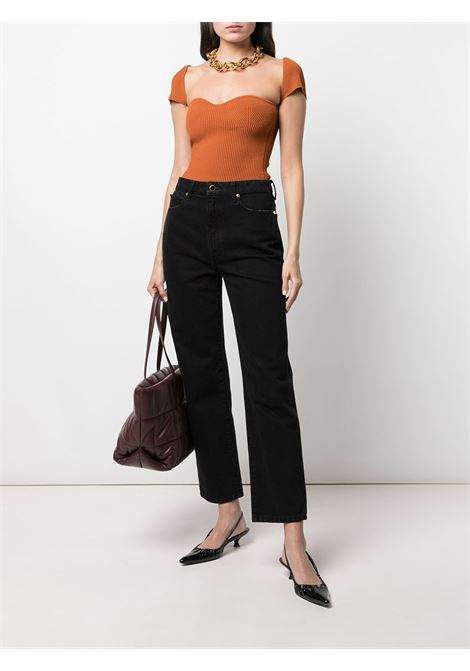 Ista ribbed top in orange - women  KHAITE | 8420400529