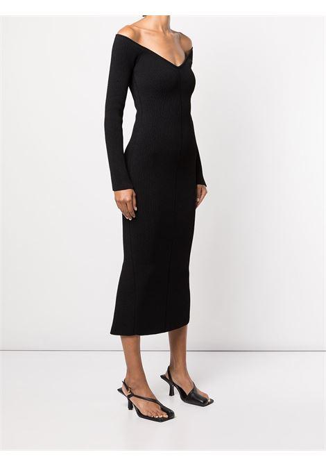 Pia off-shoulder dress in black - women  KHAITE   8605400200