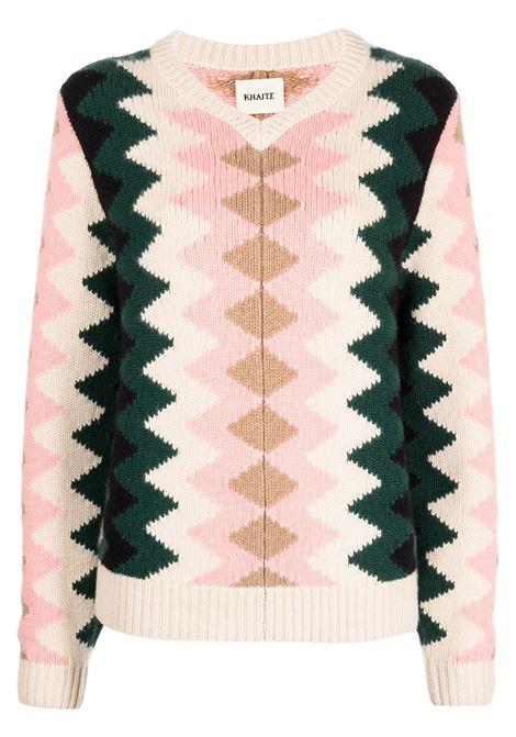 Multicolored The Nessa patterned cashmere jumper - women  KHAITE | 8621610553