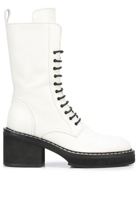 White The Cody 80mm lace-up boots - women  KHAITE | F1022722100